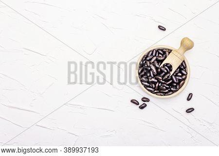 Dry Black Bean Or Kidney Bean In Glass Jar