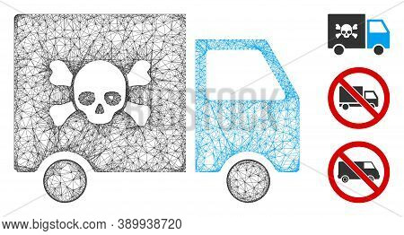 Mesh Toxic Transportation Car Polygonal Web Icon Vector Illustration. Abstraction Is Based On Toxic
