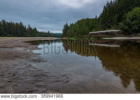 This Is The Mouth Of The San Josef River In Cape Scott Provincial Park On Vancouver Island, British