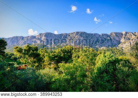 Mountain Wall - Biokovo Mountain Range In Dalmatia