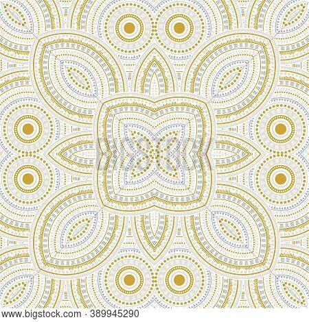 Subtle Moroccan Zellige Tile Seamless Rapport. Ethnic Structure Vector Swatch. Ceramics Print Design