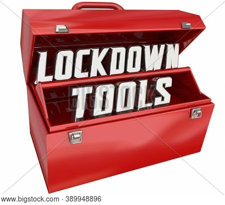 Lockdown Tools Resources Toolbox Safety Security Measures 3d Illustration