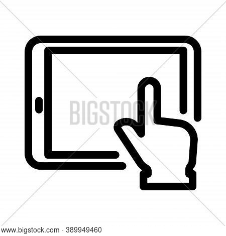 Tablet Icon Isolated On White Background From Education Collection. Tablet Icon Trendy And Modern Ta