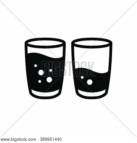 Black Solid Icon For Few Some Not-many Glass Water Succinct Trifling Slight Insignificant Frivolous