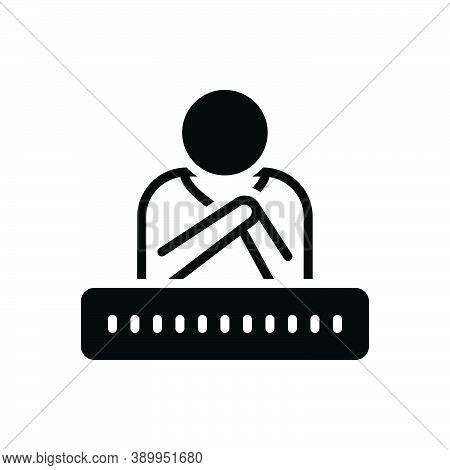 Black Solid Icon For Believe Faith Trust Regard-as-true Reckon Consider Confidence