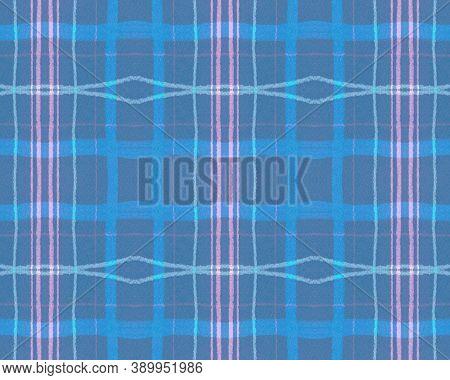Pink Pastel Check. Seamless Plaid Fabric. Irish Wool. Hipster Gingham Border. Geometric Pastel Check
