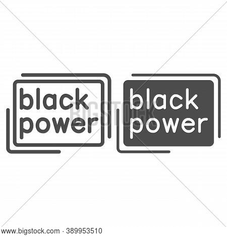 Black Power Poster Line And Solid Icon, Black Lives Matter Concept, Blm Protest Poster Sign On White