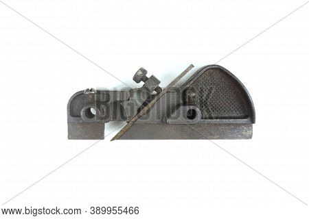 Miniature Metal Hand Plane.   A Hand Plane Is A Tool For Shaping Wood Using Muscle Power. Retro Tool
