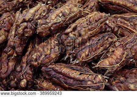 Pile Of Tamarind, Tamarind Peeled, Tamarind For Cooking