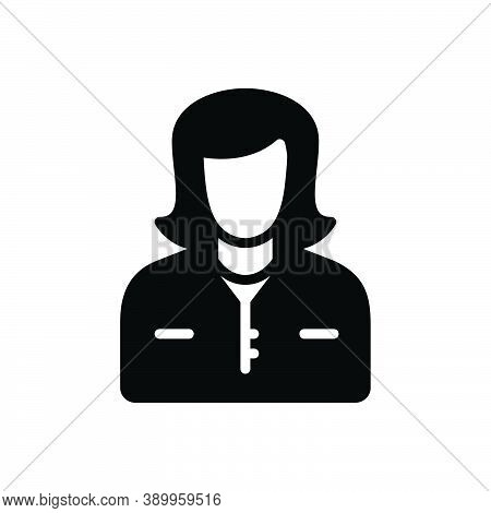 Black Solid Icon For Mom Mummy Female Parent Mother Mommy Lady