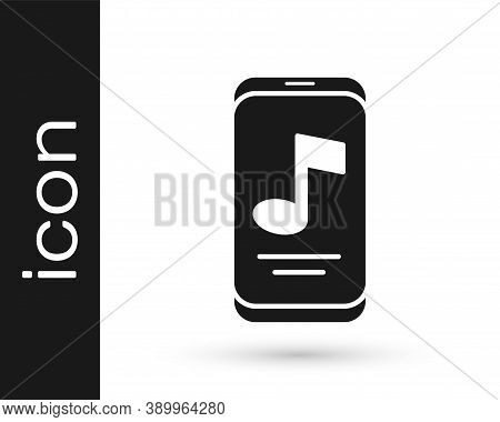 Black Music Player Icon Isolated On White Background. Portable Music Device. Vector
