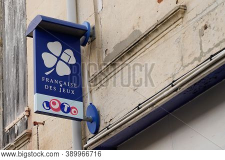 Bordeaux , Aquitaine / France - 10 10 2020 : Fdj Logo And Sign Text Of France National Lottery Opera