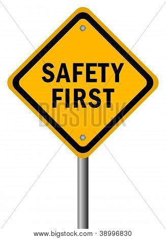 Vector safety first sign