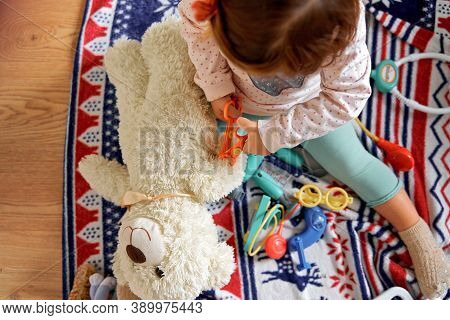 Beautiful With Child Play Doctor At Home. Child Play Doctor For Healthcare Design. Health Care.