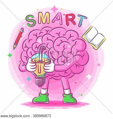 The Smart Brain Drinks A Multivitamin Of Illustration
