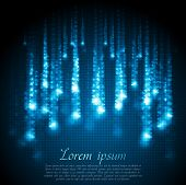 Shiny blue abstract background. Vector design eps 10 poster