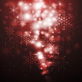 Merry Christmas! Abstract sparkling background with snowflakes. Eps 10 vector design poster