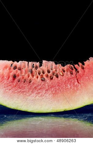Fresh slice of watermelon fruit
