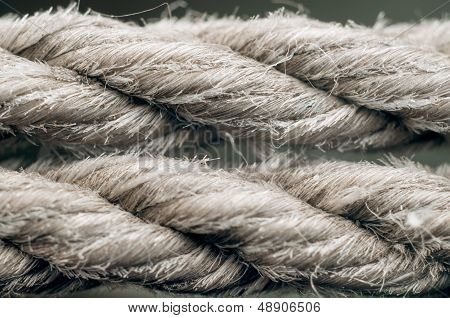 Rope texture closeup