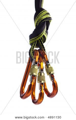 Carabiners On The Rope