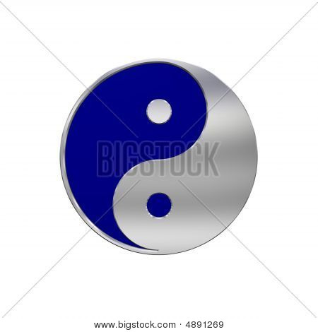 Chrome Tai Chi - Yin Yang Sign
