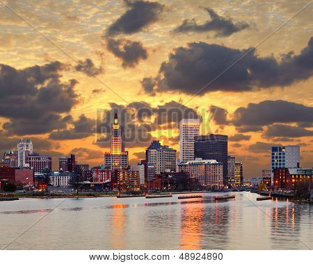 Providence Rhode Island skyline.