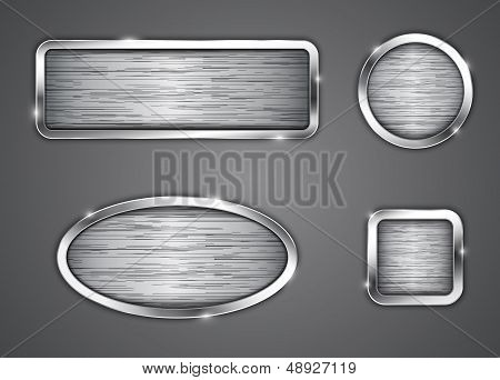 Brushed Metallic Buttons