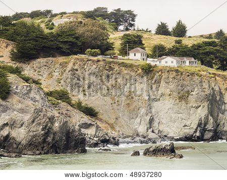 Ocean Cliff in Half Sun