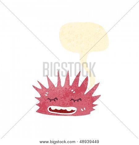 retro cartoon sea anemone