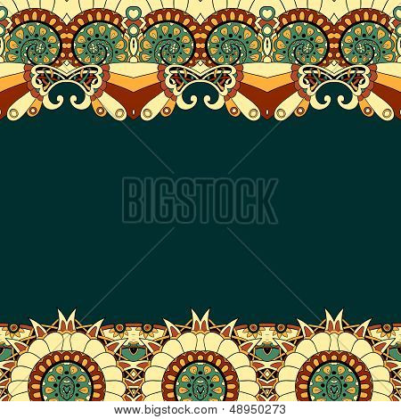 Floral mechanism steampunk seamless vector pattern can be used for wallpaper, pattern fills, web page background, surface textures. poster