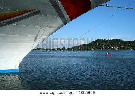 Moored Cruise Ship