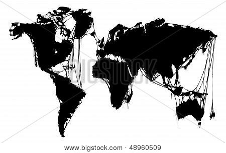 abstract grim world map. halloween background