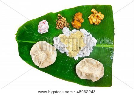 Indian Veg Thali On White