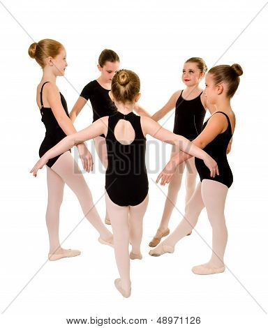 Pretty Young Ballerina Dancers
