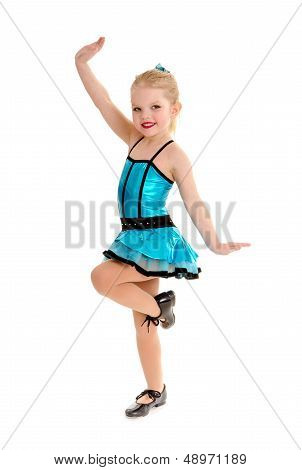 Cute And Sassy Child Tap Dancer