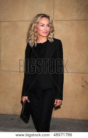 LOS ANGELES - AUG 5:  Sharon Stone arrives at the