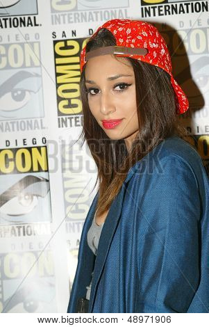 SAN DIEGO, CA - JULY 20: Meaghan Rath arrives at the 2013 Comic Con press room at the Hilton San Diego Bayfront hotel on July 20, 2013 in San Diego, CA.