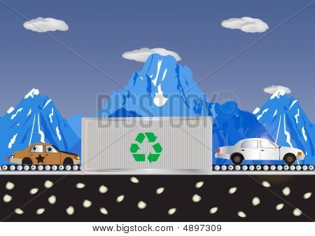 Recycling Cars Process