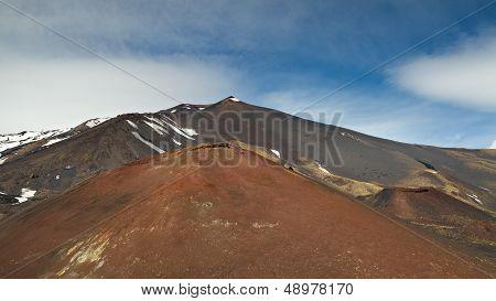 Peak Of The Etna Volcano