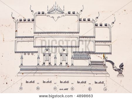 Draft Drawing Of Buddhist Church