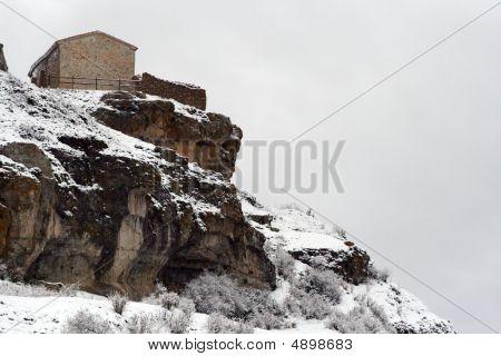 Mountain Winter Rural House