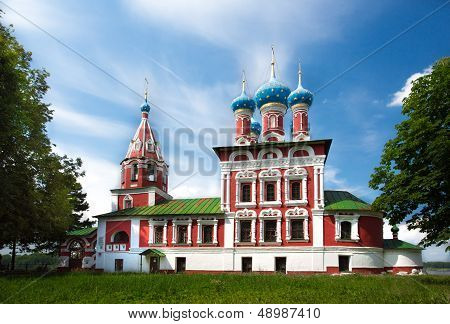 Temple Of Tsarevich Dmitry On The Blood Of Uglich City