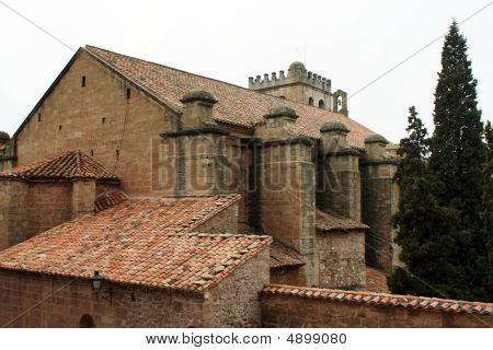 Mora De Rubielos Church. Bell In The Tower.