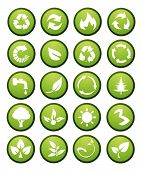 Vector environmental icons and design elements art poster