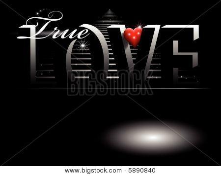 valentine card background in black