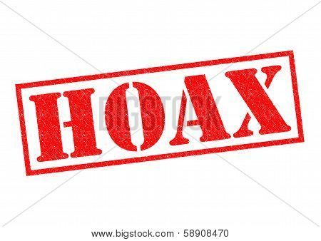 Hoax Rubber Stamp
