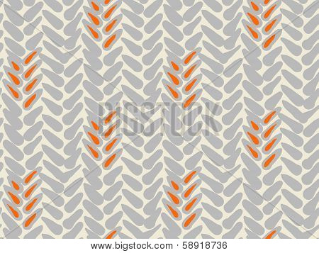 Simple vector pattern with bold brushstrokes