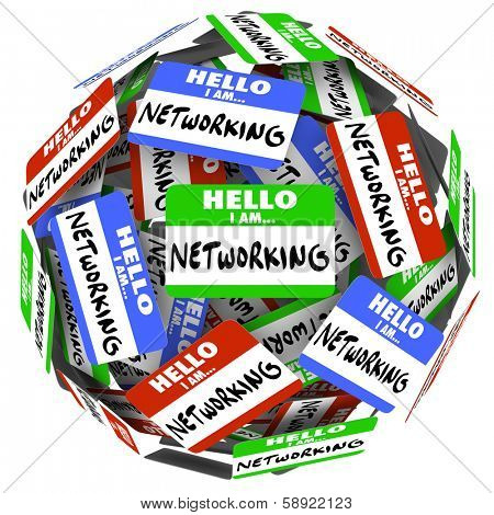Hello Networking Name Tags Meet Greet Opportunity