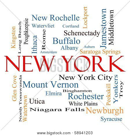 New York State Word Cloud Concept