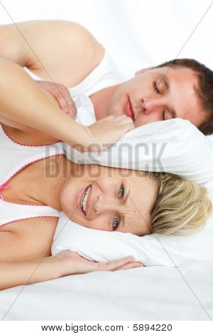 Woman Trying To Sleep With Man Snoring